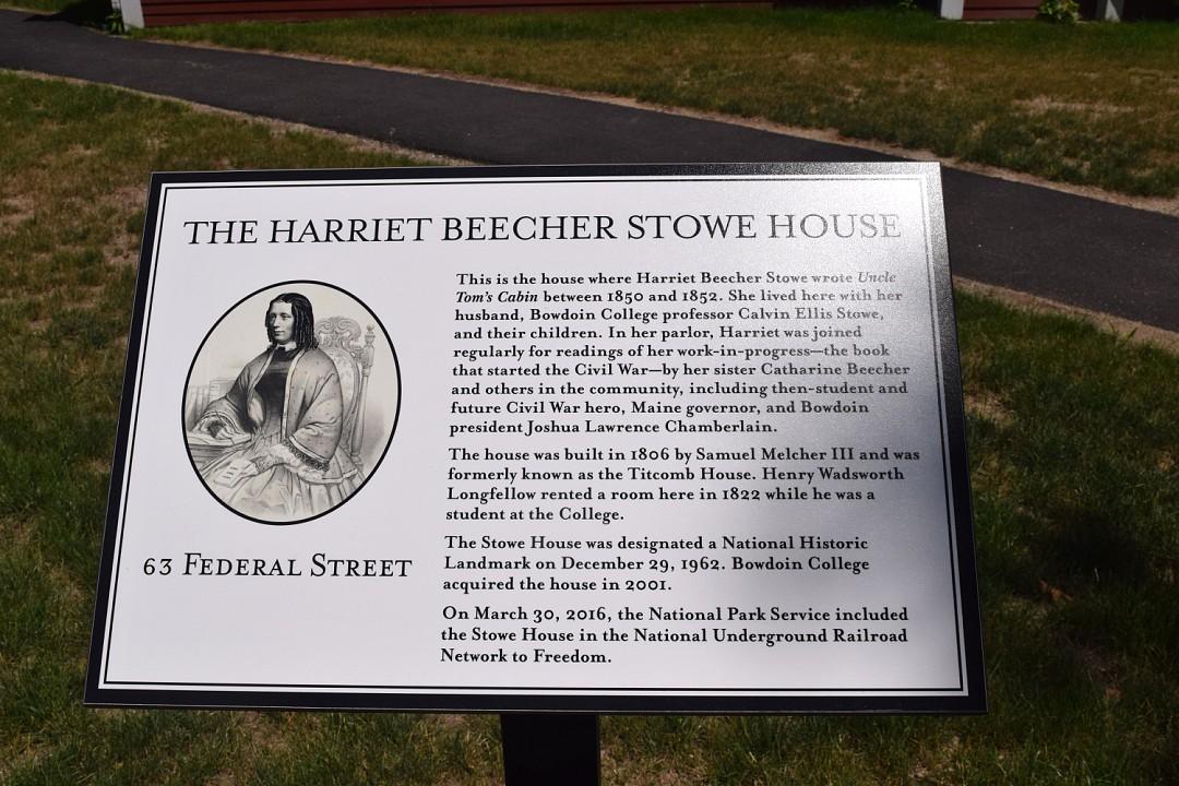 Harriet Beecher Stowe House sign
