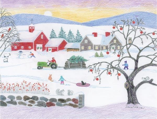 Anne Kilham winter card